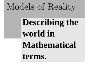 Models Of Reality